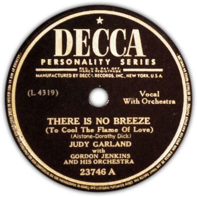 There Is No Breeze - Judy Garland
