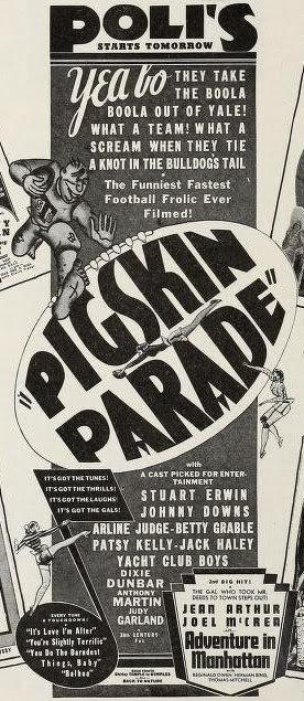 November 21, 1936 Pigskin Parade Ad