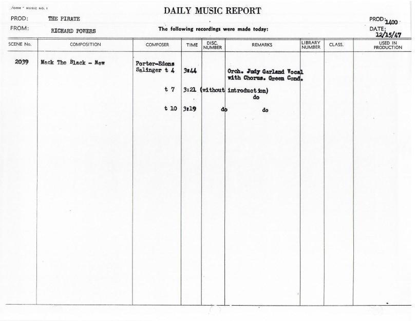 December 15, 1947 Mack The Black NEW