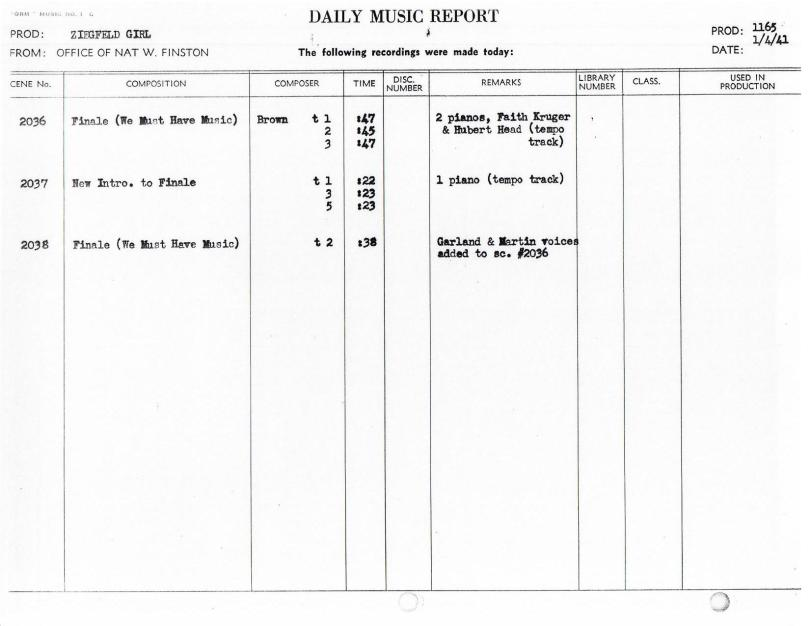 January 4, 1941 We Must Have Music (Finale)