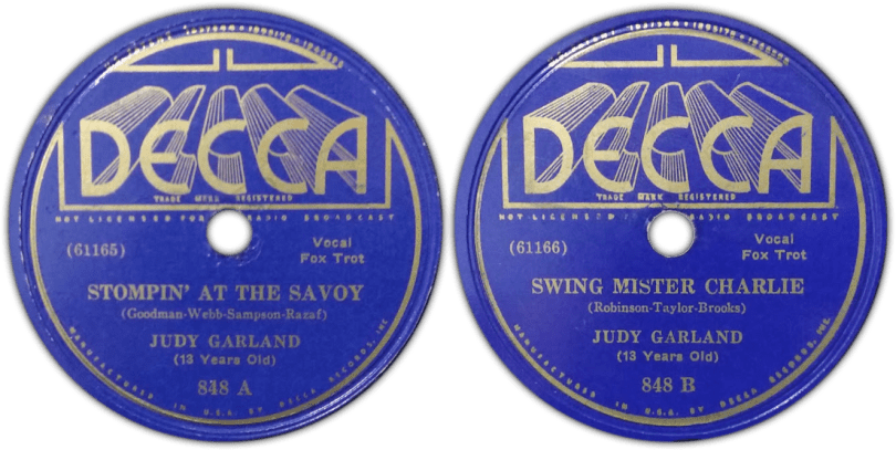 """Stompin AT The Savoy"" & ""Swing Mr. Charlie"" by Judy Garland"