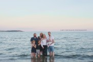Urlaubsfamilienfoto