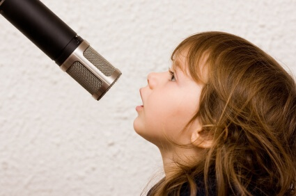 girl with mic