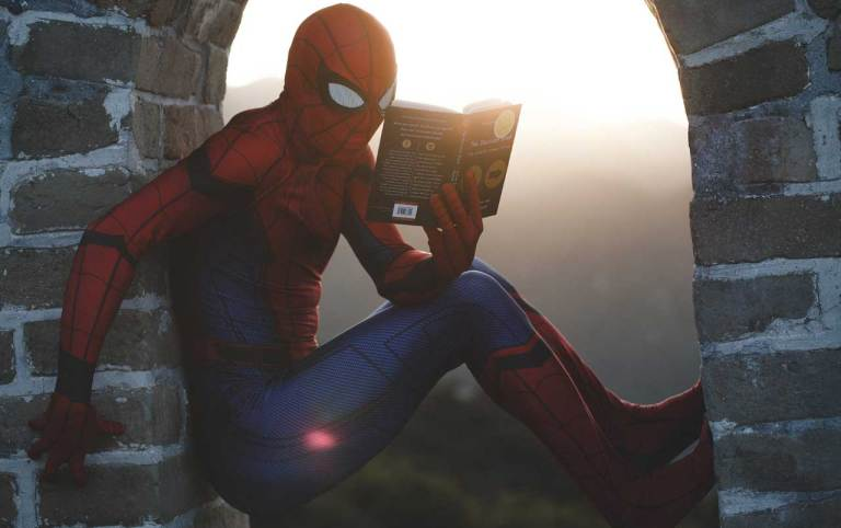 spiderman-reading-a-book