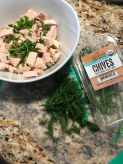 Add any chopped herbs you have. I used dill and chives.