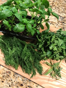 Herbs leftover from the week.