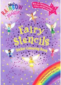 Rainbow Magic Fairy Stencils Sticker Colouring Book New