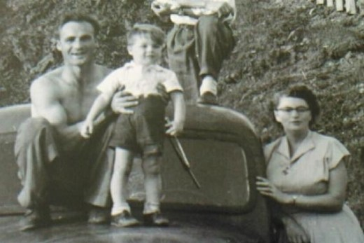 Pete with Mom and Dad.