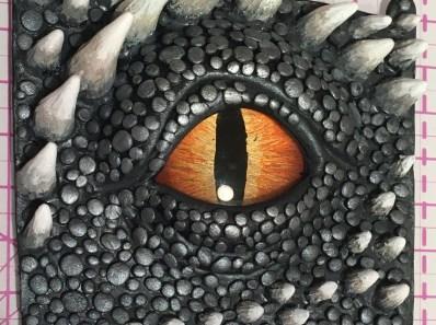 Dragon eye sculpt and paint