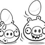 Cerdos Minion cargando huevos