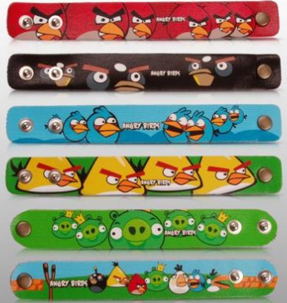 Como hacer pulseras de Angry Birds