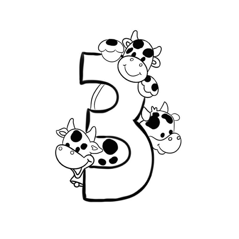 imagenes de numeros para pintar