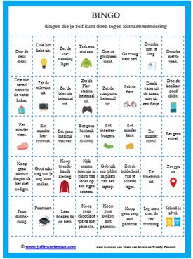 bingo klimaatverandering afbeelding