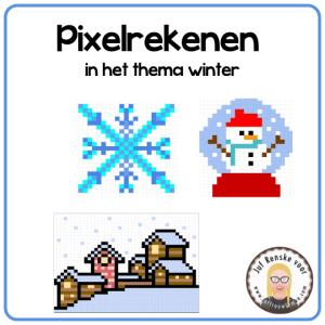 Pixelrekenen in het thema winter