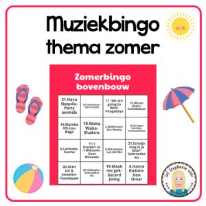 Muziekbingo in het thema zomer