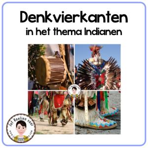 Denkvierkanten in het thema Indianen