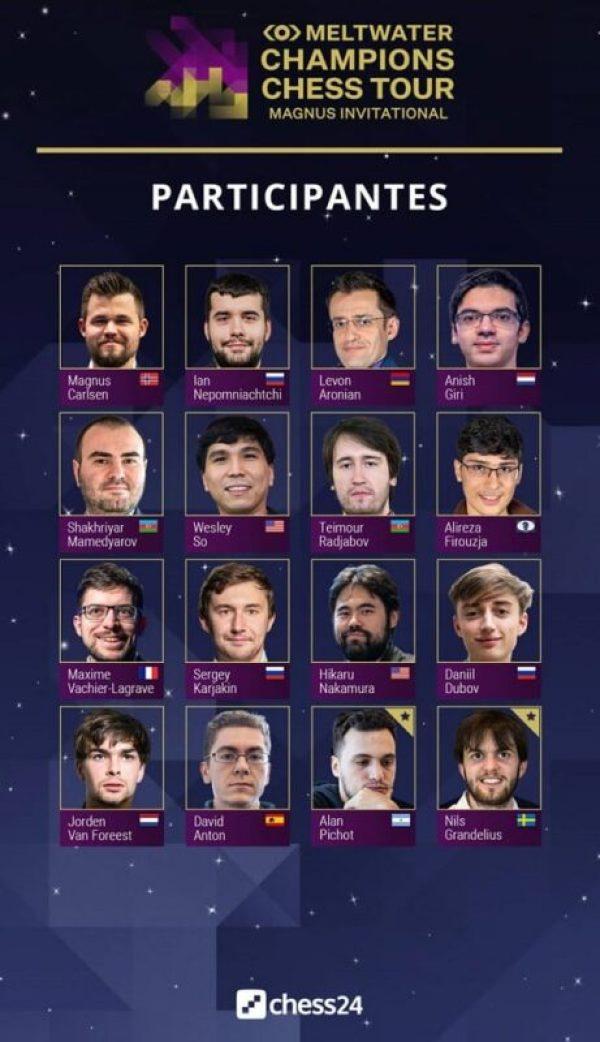 Magnus Carlsen Chess Tour 13-03-2021-Participantes