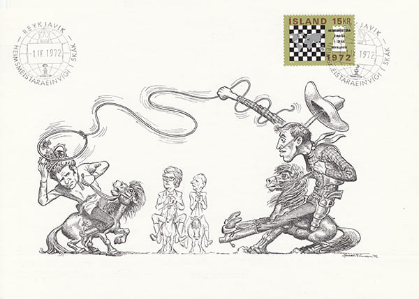 Spassky-Fischer 1972 una epopeya en los dibujos animados-Halldór Pétursson-17