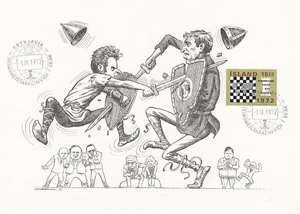 Spassky-Fischer 1972 una epopeya en los dibujos animados-Halldór Pétursson-5