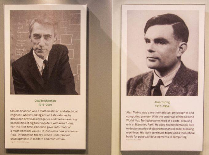 Claude Shannon y Alan Turing
