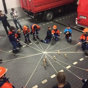 Funkübung und Teamwork