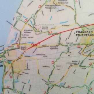 Radwegplan im Detail - niederländische Radverkehrsnetz