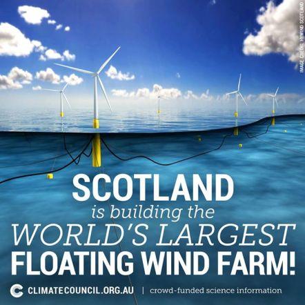 Scotland floating wind farm