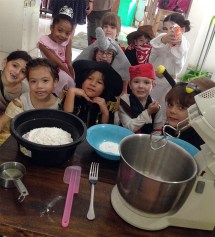 Cooking class on Halloween. Scary! :)