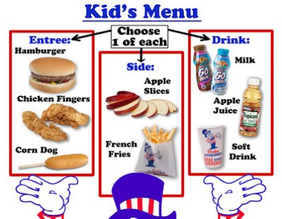 Limited Children's Menu Items