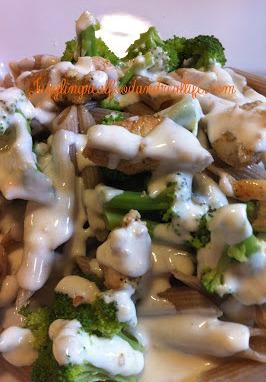 Chicken and Broccoli Alfredo Pasta Bar – Juggling Real Food and Real Life