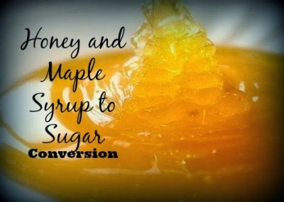 Honey and Maple Syrup to Sugar Conversion