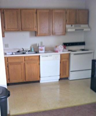 College Apartment Kitchen