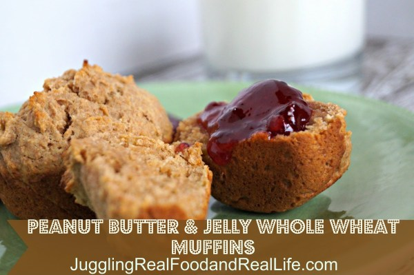 Peanut Butter and Jelly Whole Wheat Muffins