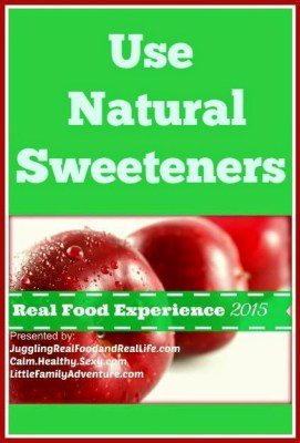 Use Natural Sweeteners
