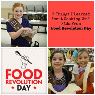 Cooking With Kids at Food Revolution Day