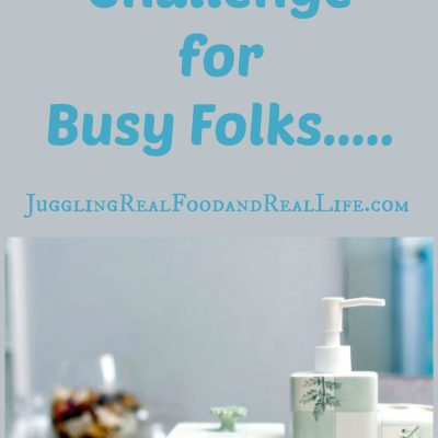 Declutter Challenge for Busy Folks:  The Bathroom