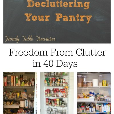 Decluttering Your Pantry