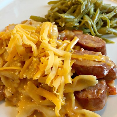 Easy Recipe:  One Pot Smoked Sausage Pasta
