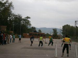 Presevo fudbal migranti 1