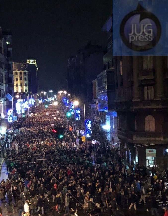 Na protestima i ljudi iz Leskovca, Medvedje, Vlasotinca