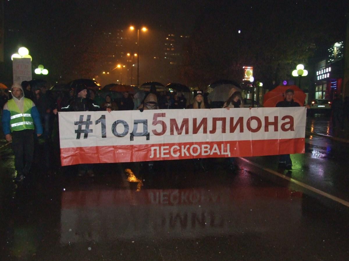 Održani četvrti protesti u Leskovcu