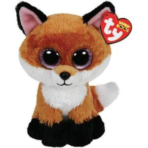TY, Peluche Zorro 15 cm Color Naranja
