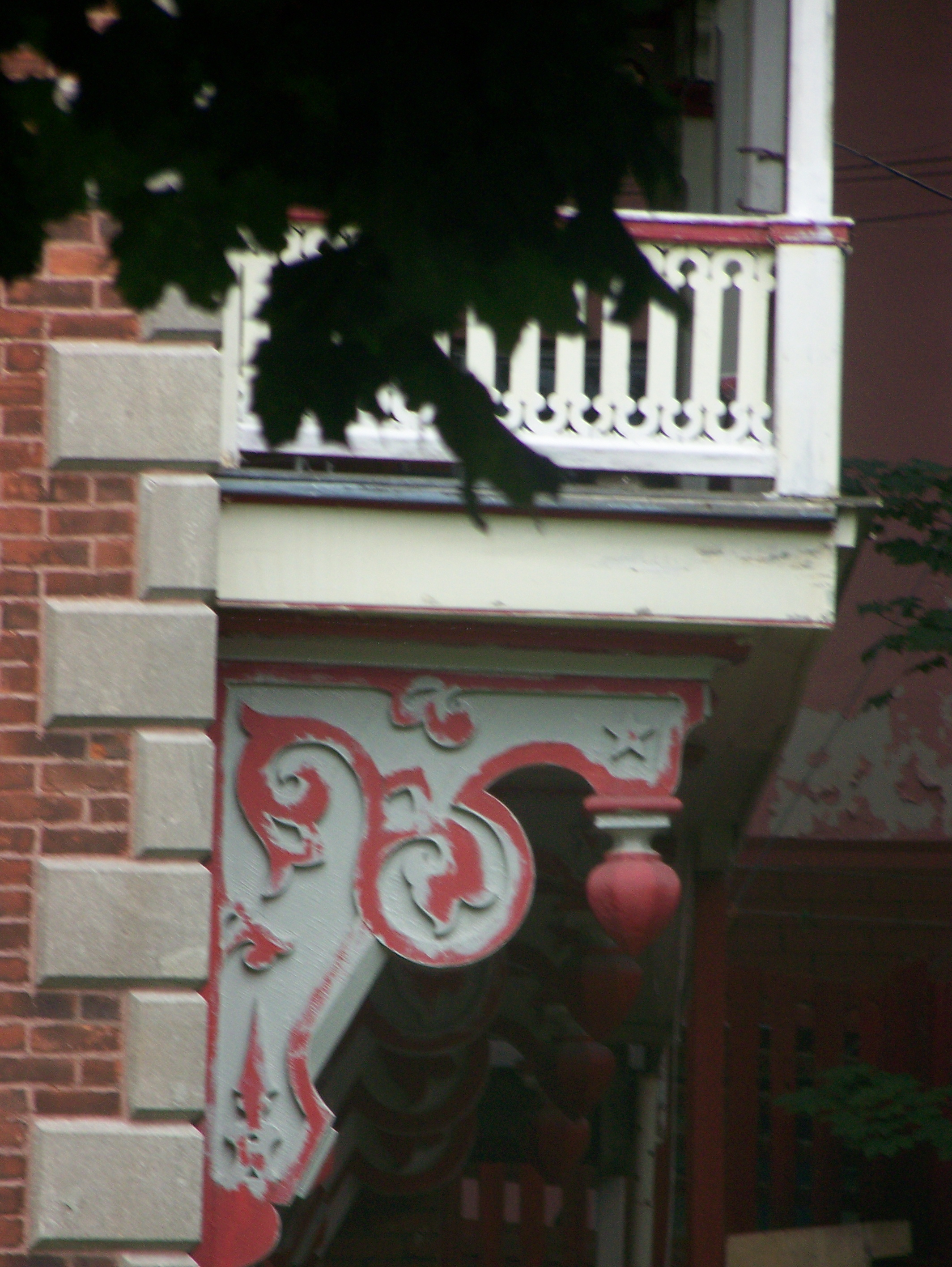 Architectural detail on a fixer-upper on the edge of Westmount.