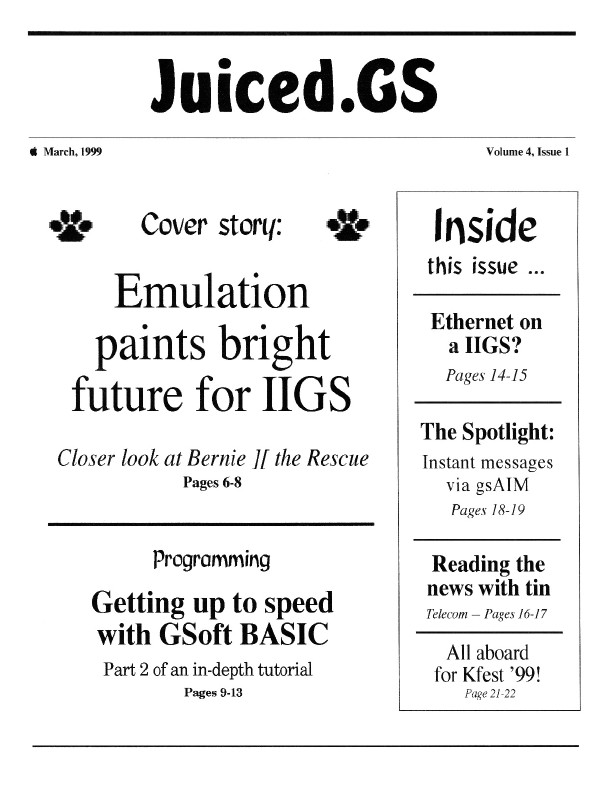 Volume 4, Issue 1 (March 1999)