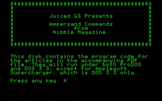 Nibble ampersand commands