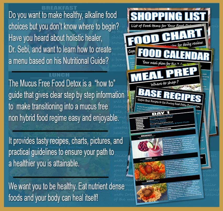 MUCUS FREE FOOD DETOX   JUICE HUGGER'S A HEALTHY CRUSH