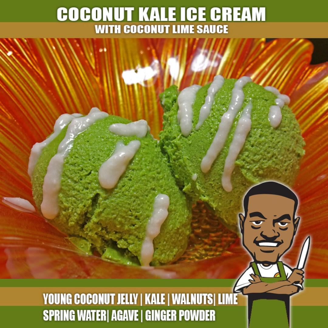 COCONUT KALE ICE CREAM