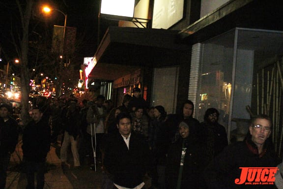 The line to get in was around the block. Photo: Dan Levy