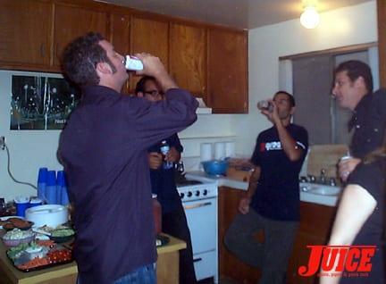 Cholo, Jesse Martinez and Travis Harding. Photo: Dan Levy