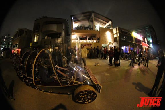 The Art Crawl had custom vehicles rolling around.